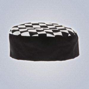 Κοντός Σκούφος Κουζίνας Καρό-0